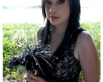 Swarovski Crystal Bead Bouquet Gothic Wedding