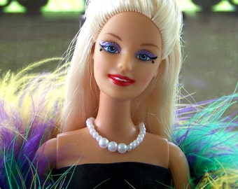 OOAK Custom White Glove Barbie Mardi Gras Ball Doll