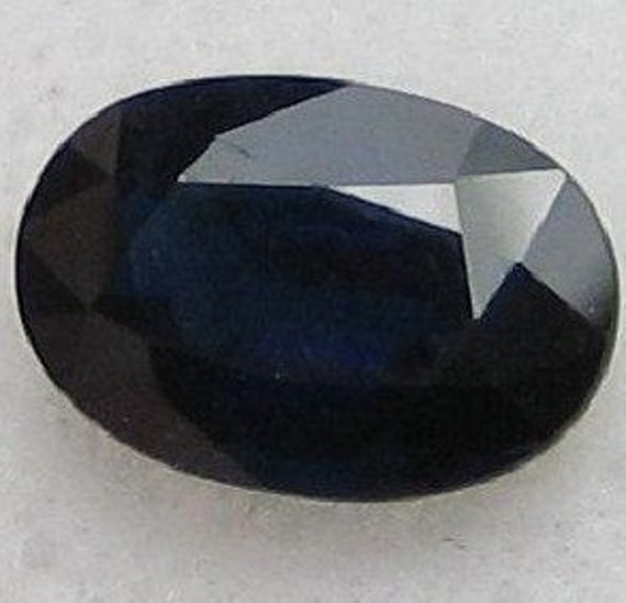 Reserved For Selkie8 2 Carat Dark Blue Sapphire Natural