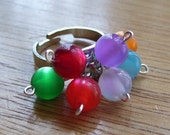 Rainbow Bubbles - an adjustable Ring