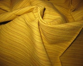 "Boussac Oxyde Yellow Tweed Stripe Solid Designer Fabric Sample 27""x40"""