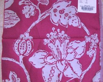 FAB Gramont Embossed Magenta Floral Silk Designer Fabric Sample Osborne Little