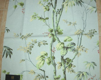 Ashford House Kodachi Teal Floral Tree Designer Fabric Sample