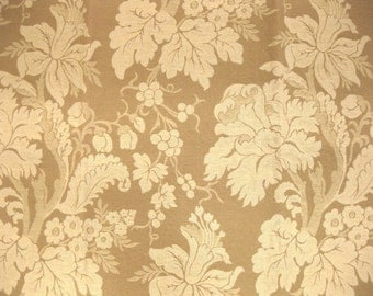 Huge Woven Floral Oyster Tapestry Tan Designer Fabric Sample
