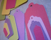15 Bright Cardstock Tags