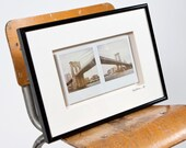 Brooklyn Bridges - Framed Polaroid Diptych - Original prints 1/1