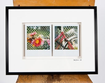 Spring Cycle - Framed Polaroid Diptych - Original 1/1