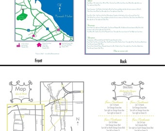 Wedding Or Event Map Design 2 Sided
