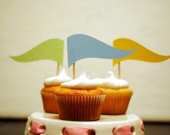 Waving Cupcake flags - Set of 12