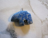 Lapis Lazuli Zuni Bear Fetish Pendant or Charm