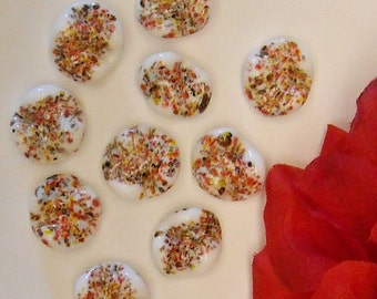 Vintage Multicolor Wave Shape Confetti Beads