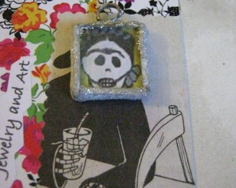 Soldered Frida Kahlo Charm