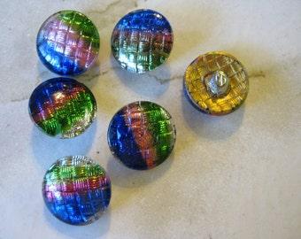Vintage Multicolor Glass Buttons