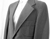Suit Coat Mens Sport Jacket Gray Vintage 1970s Size 42