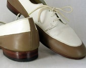Mens Vintage Shoes Spectator Giorgio Brutini in Brown and White for Men or Women