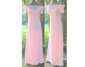Upcycled Pastel Pink Prom Party Dress, Modern Size 2, Extra Small