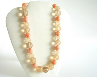 Vintage Peach / Orange Sherbert Bubbles Necklace