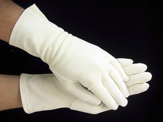 Gloves White Vintage 1950 S Ladies Dress Gloves