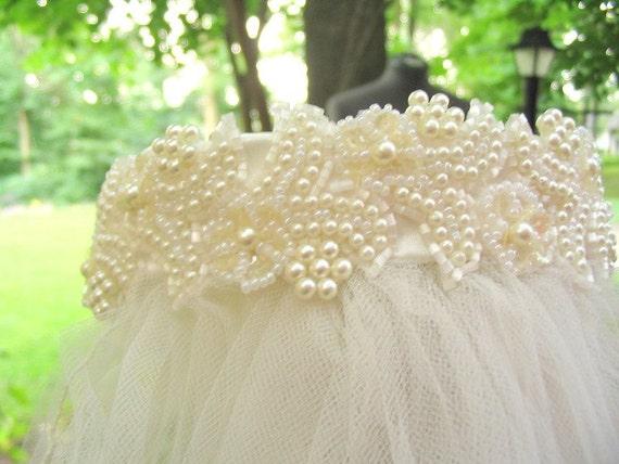 Ivory Bridal Headpiece and Fingertip Wedding Veil Handmade