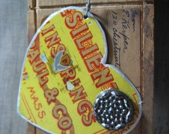Vintage Heart Tin Ornament
