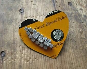 Vintage Heart Tin Brooch