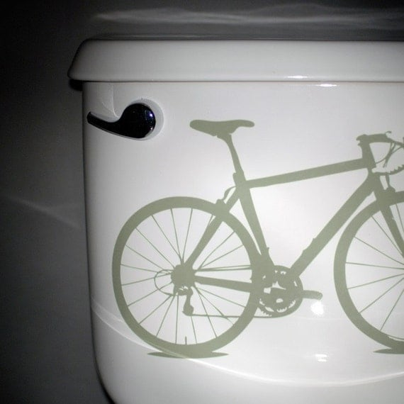 Free Shipping - bicycle, vinyl graphic, grey