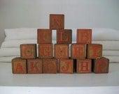 Antique Letter Blocks