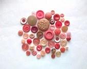 Tickled Pink Vintage Buttons