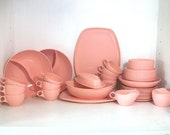 SUPER SALE- Large Collection Of Pink Vintage Melmac Dishes