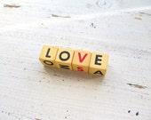 Vintage Letter Dice- Love