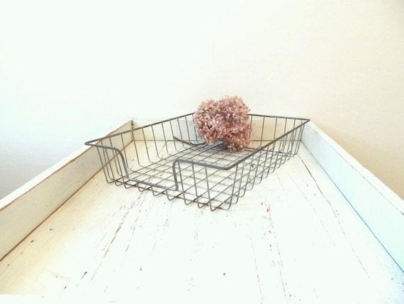 Vintage Wire Basket Tray