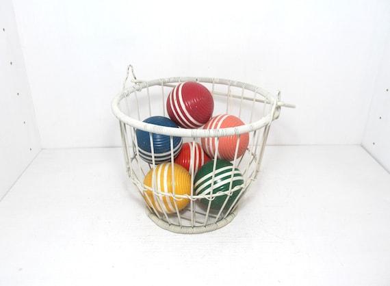 Six Vintage Croquet Balls