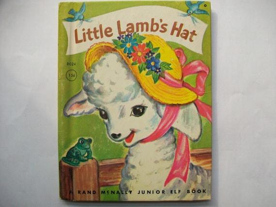 Vintage 1950's Children's Book- Little Lamb's Hat