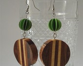 Eco Chic Green Paper Earrings RESERVED