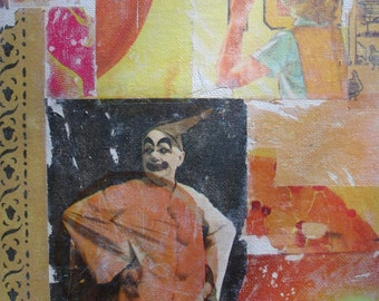 Original Collage with Clown