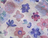 Flowers Fabric  - Cotton - 1 Yard - Pre-Washed