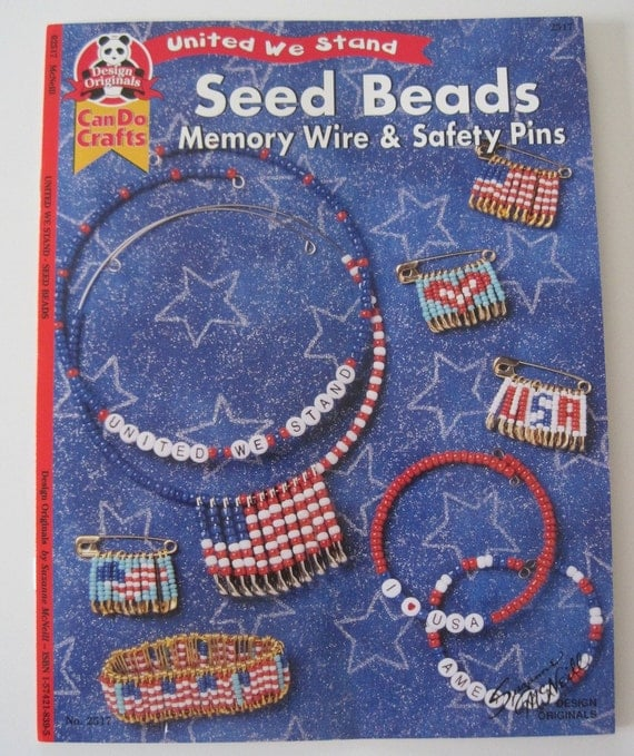 book seed and safety pin patterns by sandisstashshop