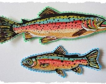 5 Large Fish Iron Ons