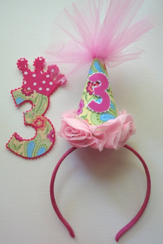 Party Hat Headband and Iron on with Prioirty Shipping