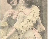 Antique French Actress - Reflection in the Mirror - Coquette