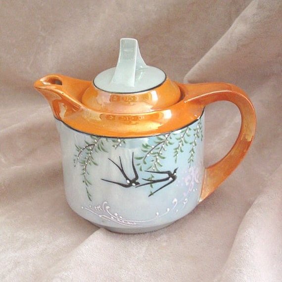 Art Deco Covered Syrup Container Pitcher