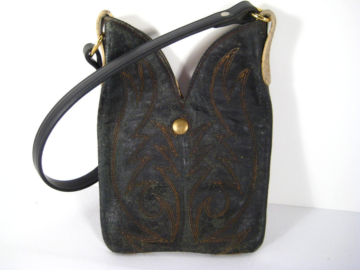 Reclaimed Cowboy Boot Top Purse By Purseinboots On Etsy