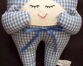 Blue Gingham Tooth Fairy Pillow