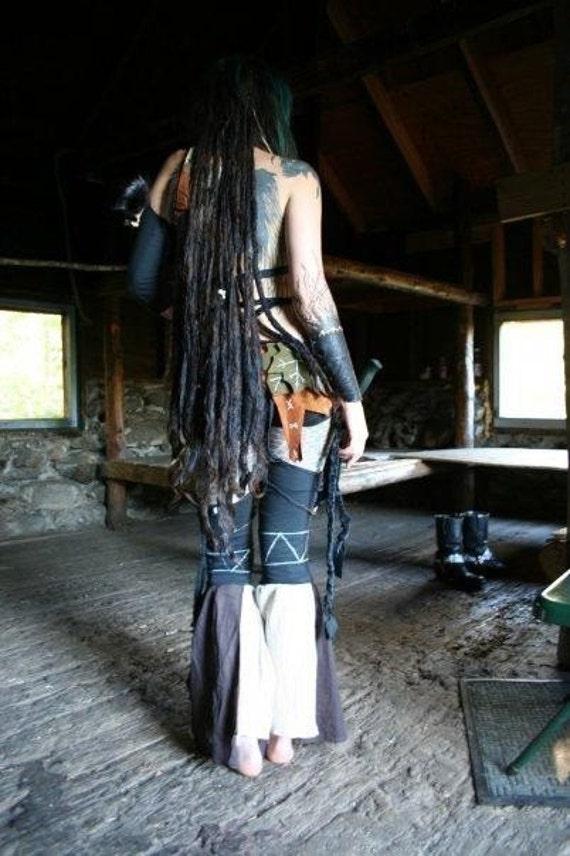 Tribal Wasteland Garter Leggings Custom Fit & Color