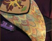 FINN Double Sided Bag Wool Felted Green ManTapestry Shoulder Art Bag