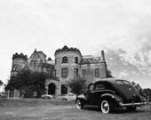 Joslyn Castle with a 1940 Ford Sedan Tudor  - Fine Art Photograph