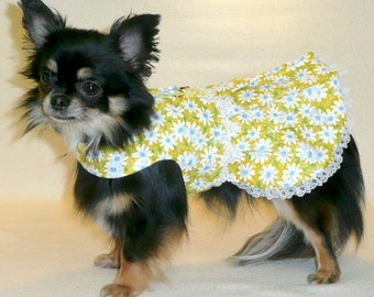 Dog Clothes Yellow Daisy Dress, Chihuahua, Yorkie