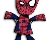 Super Hero Spiderman 5x7 Art Print