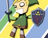 Legend of Zelda Link Nintendo Art Print Video Game