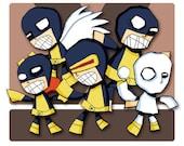 Original X-Men Super Hero Art Print Illustration